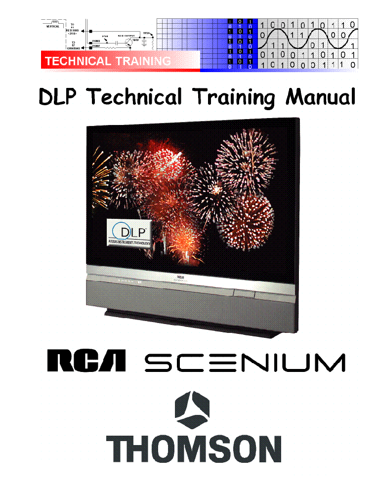 THOMSON RCA SCENIUM DLP-TECHNIKAL-TRAINING-MANUAL service manual (1st page)