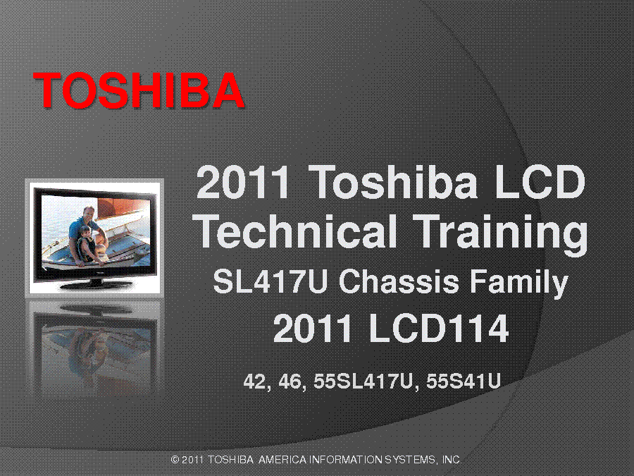TOSHIBA CHASSIS SL417U FAMILY INFO service manual (1st page)
