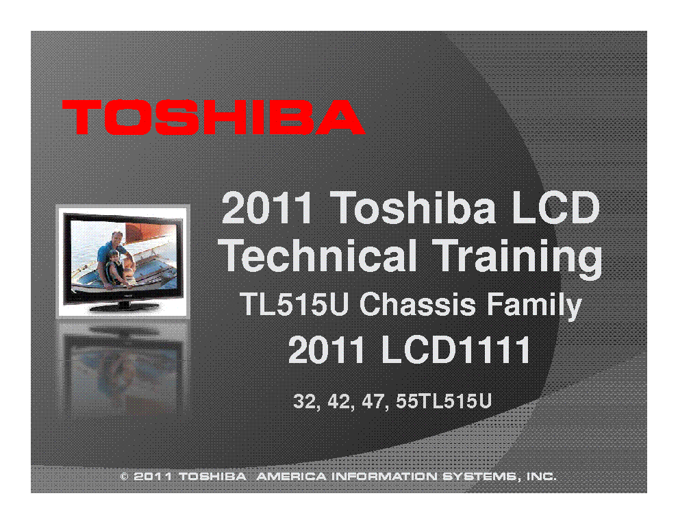 TOSHIBA CHASSIS TL515U FAMILY INFO service manual (1st page)