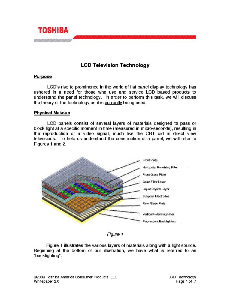 toshiba lcd television technology training manual service manual rh elektrotanya com toshiba lcd tv service manual pdf Big Screen TV Repair Manuals
