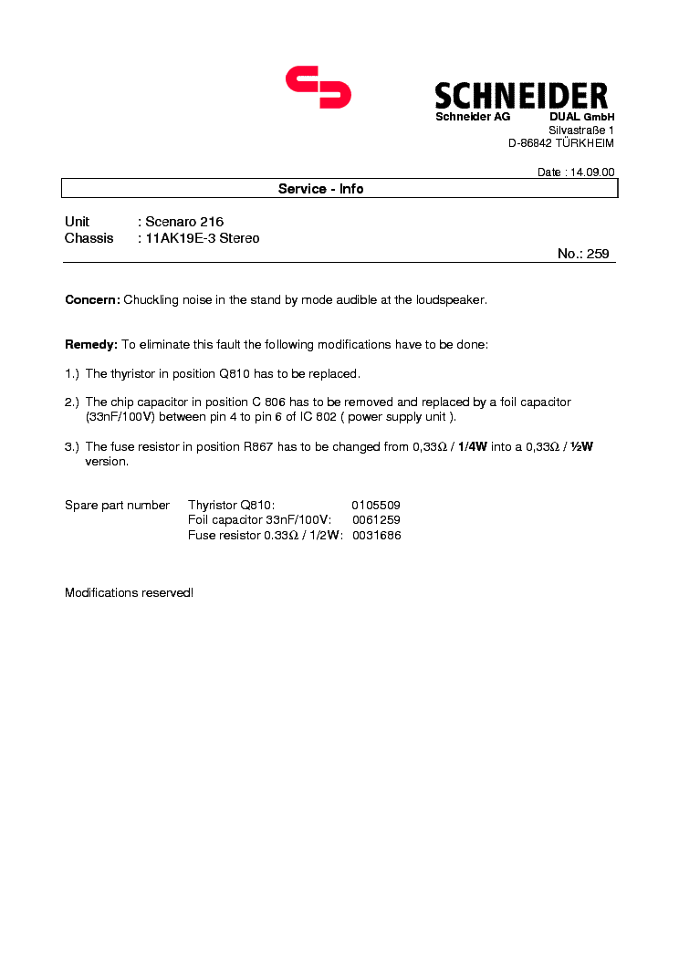 SERVICE INFO 11AK19-E3 service manual (2nd page)
