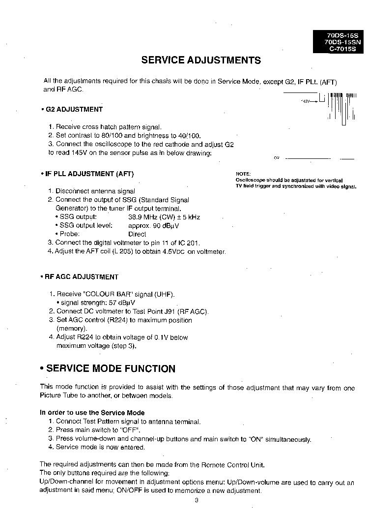 Sharp 70ds 15s схема 382