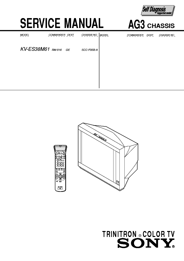 SONY AG-3 service manual (1st page)