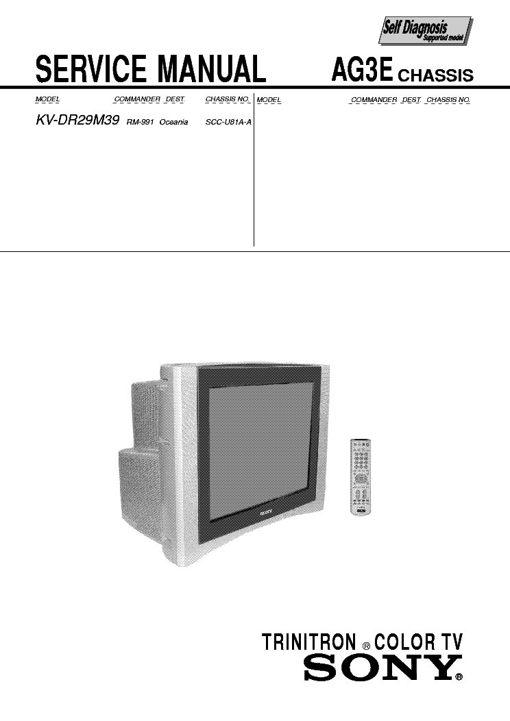 SONY AG-3E service manual (1st page)