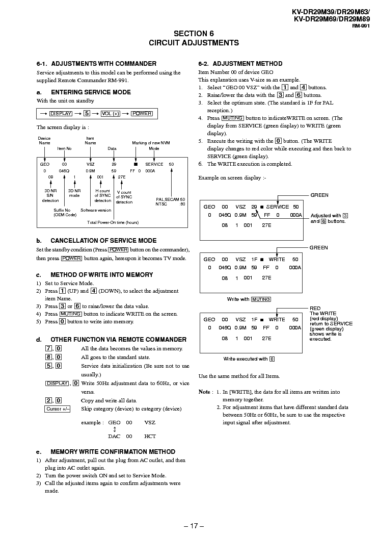 SONY AG-3E service manual (2nd page)