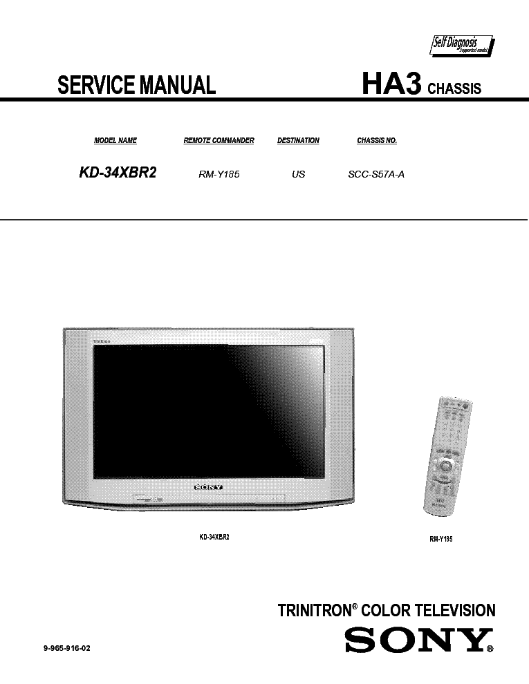SONY HA-3 service manual (1st page)