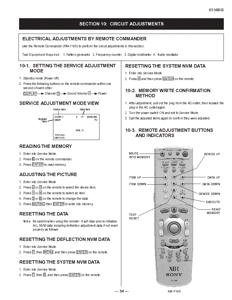 SONY HA-3 service manual (2nd page)