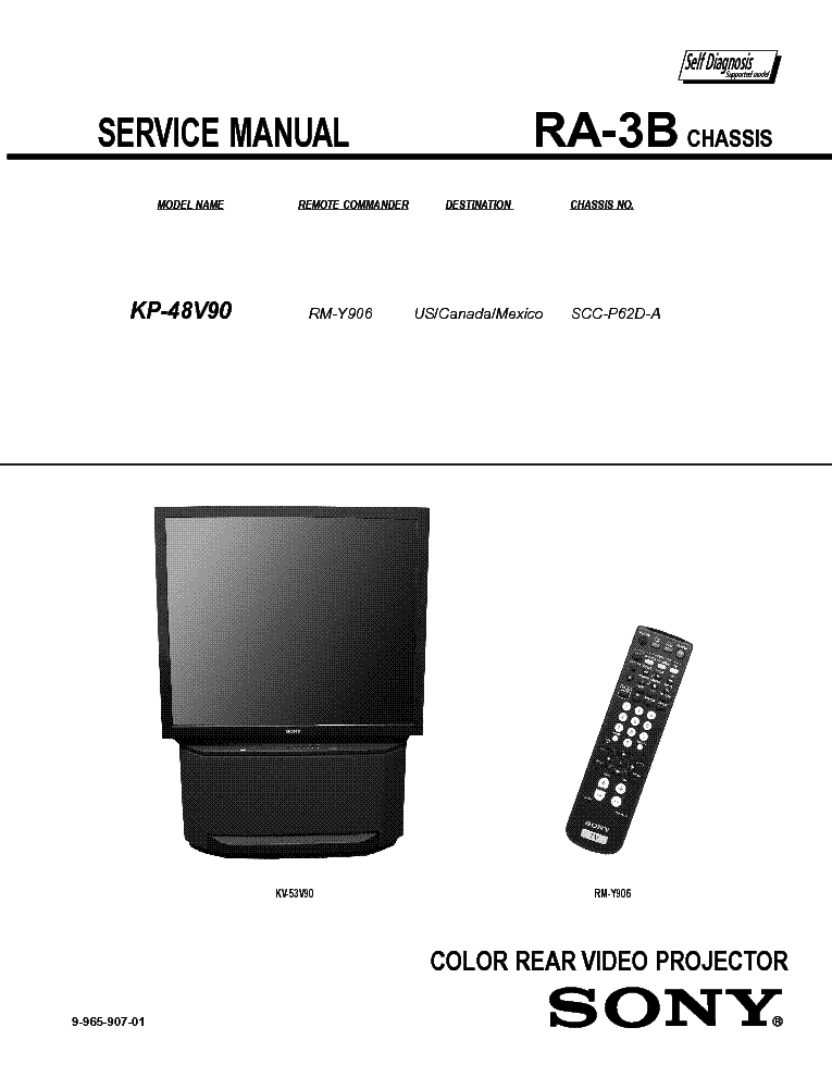 SONY RA-3B service manual (1st page)