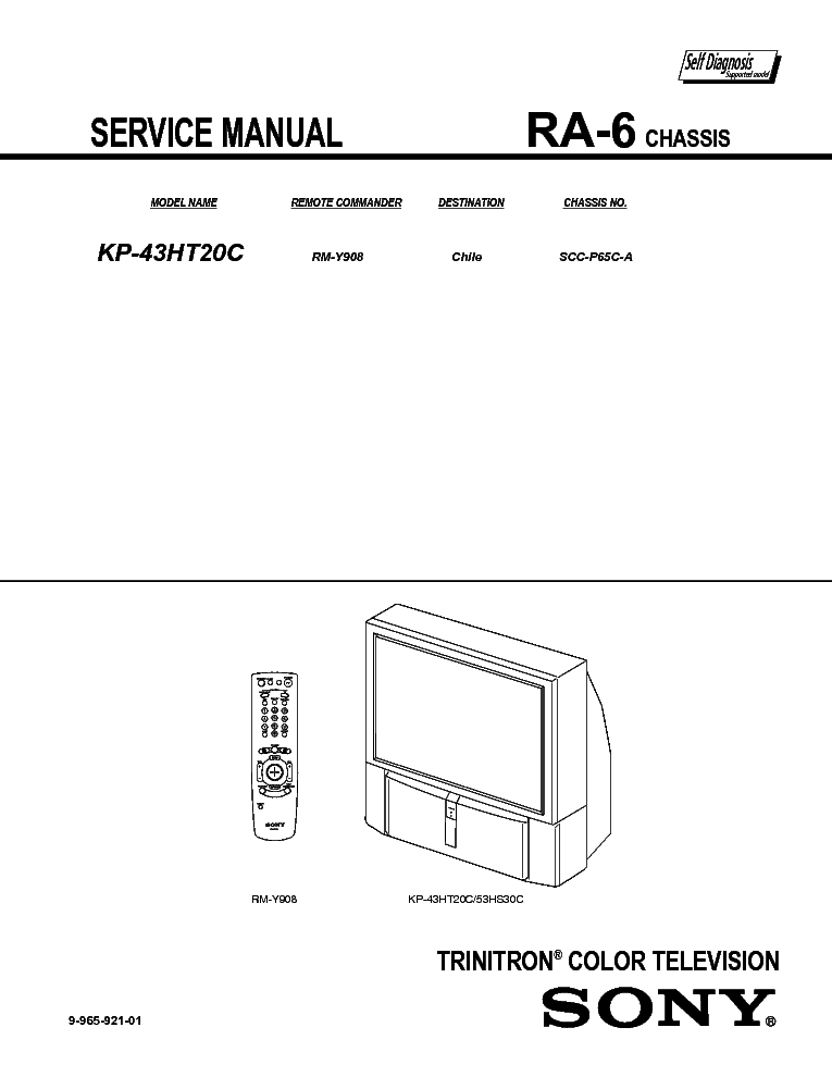 SONY RA-6 service manual (1st page)