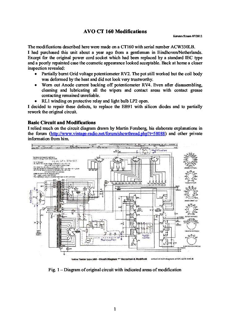 avo ct160 valve tester modifications sm service manual download rh elektrotanya com Electronic Schematics Service Manuals Taurus Model 66 Manual