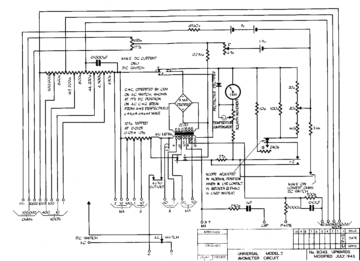 Avo 8 Circuit Diagram Free Wiring For You Pengertian Mk 7 Trusted Avometer Digital