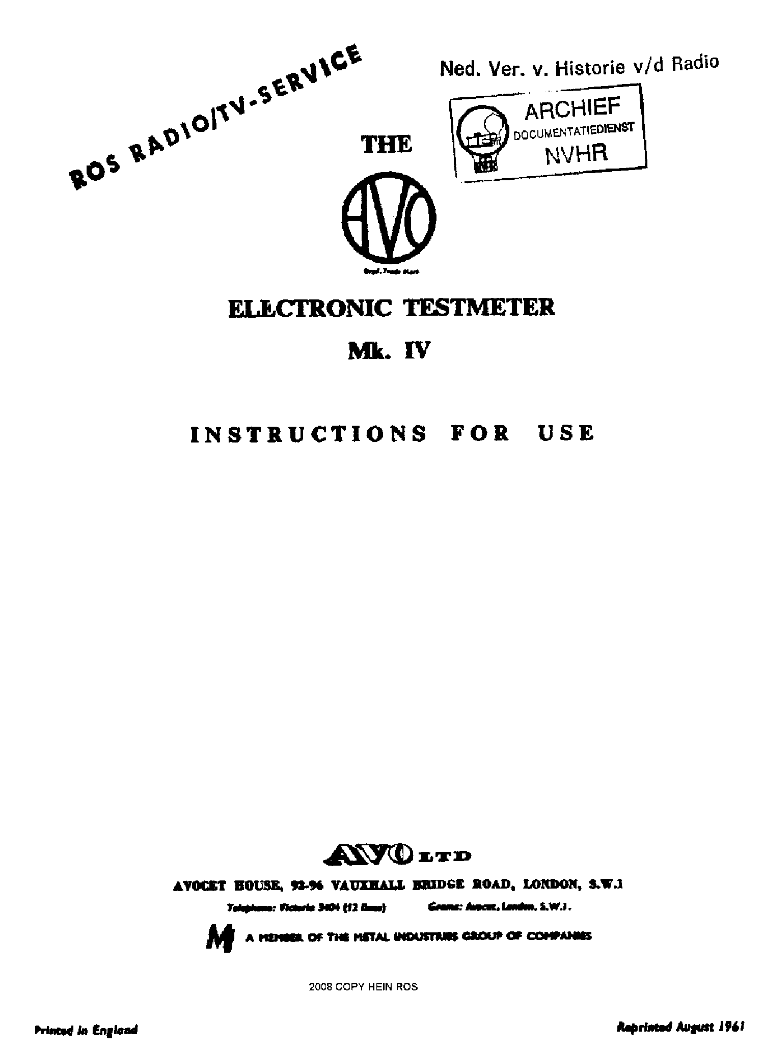 avo 7 analogue avometer sch service manual download