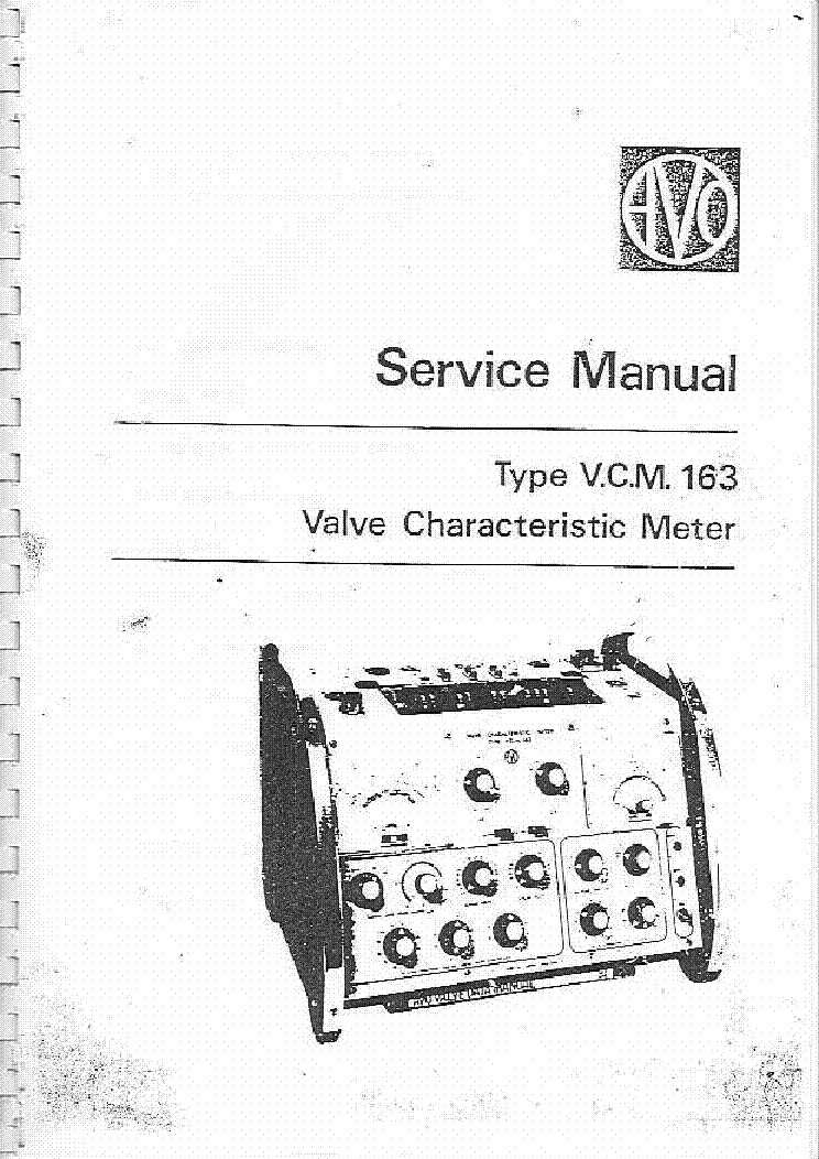 avo vcm 163 valve characteristic meter sm service manual download  schematics  eeprom  repair