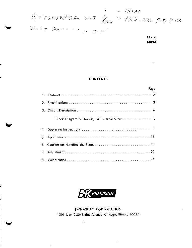 Bk precision 4017a manual pdf