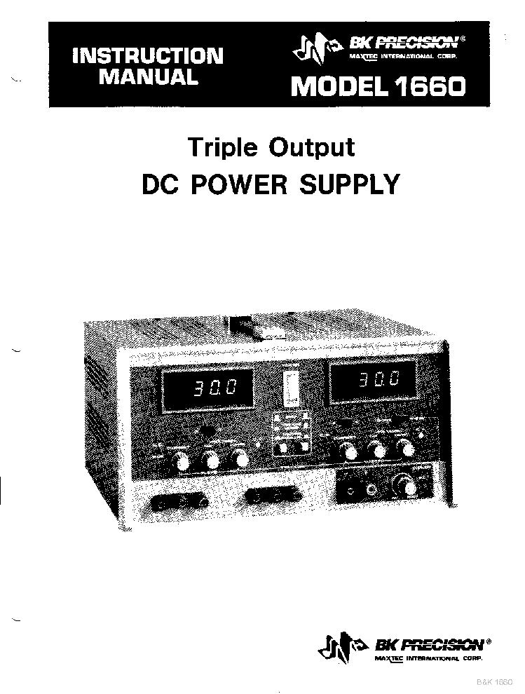 Bk Precision 1660 2x0 30v 2a 4 6 5v 5a Triple Output Power