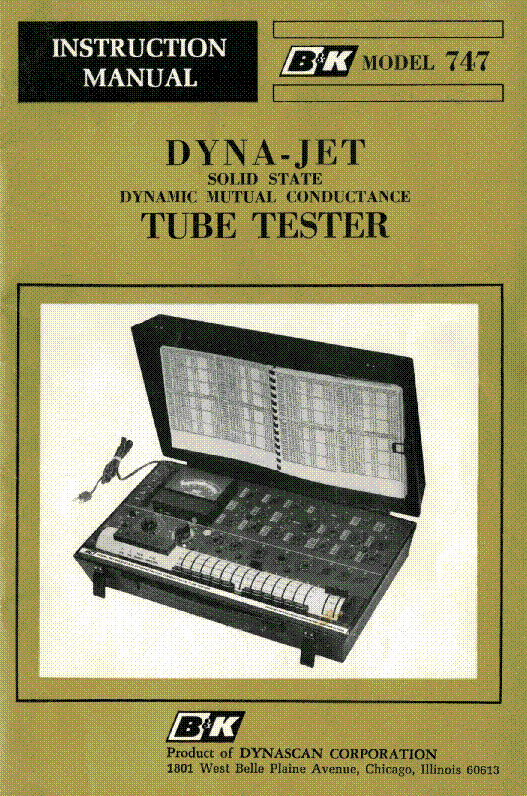 bk 747 dyna jet tube tester service manual download schematics rh elektrotanya com Operations Manual Template for Word 747 operation manual