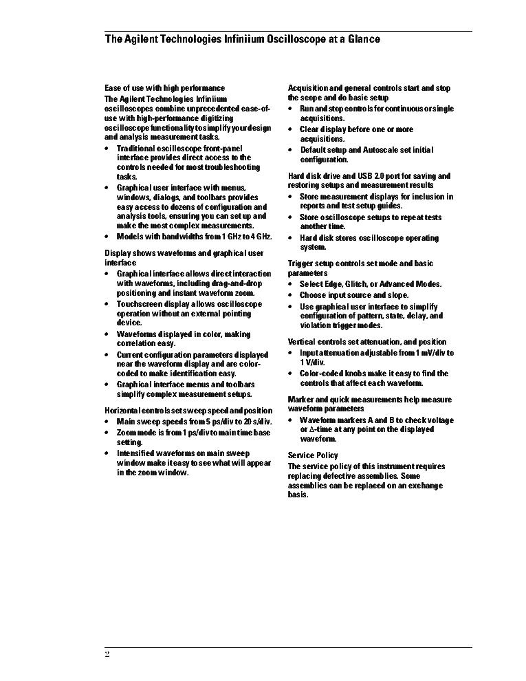 AGILENT 54904-97000 9000A SERVICE GUIDE REV2 Service Manual