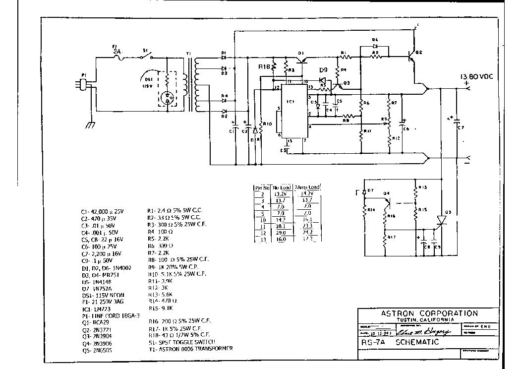 Astron Rs 12a Sch Service Manual Download Schematics