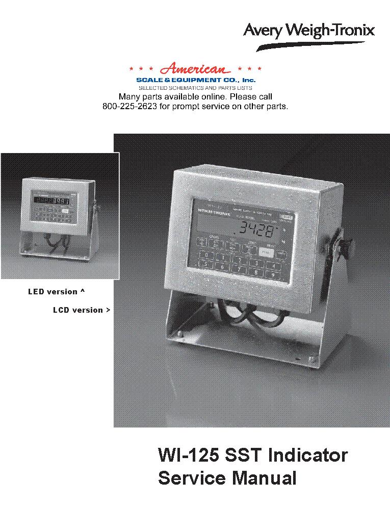 avery weigh tronix wi 125sst sm service manual download schematics rh elektrotanya com avery weigh tronix e1005 service manual avery weigh-tronix e1010 service manual