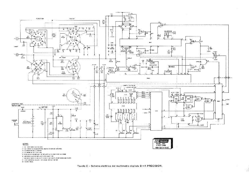 Bk Model 280 3 Digit Digital Multimeter Sch Service Manual Download