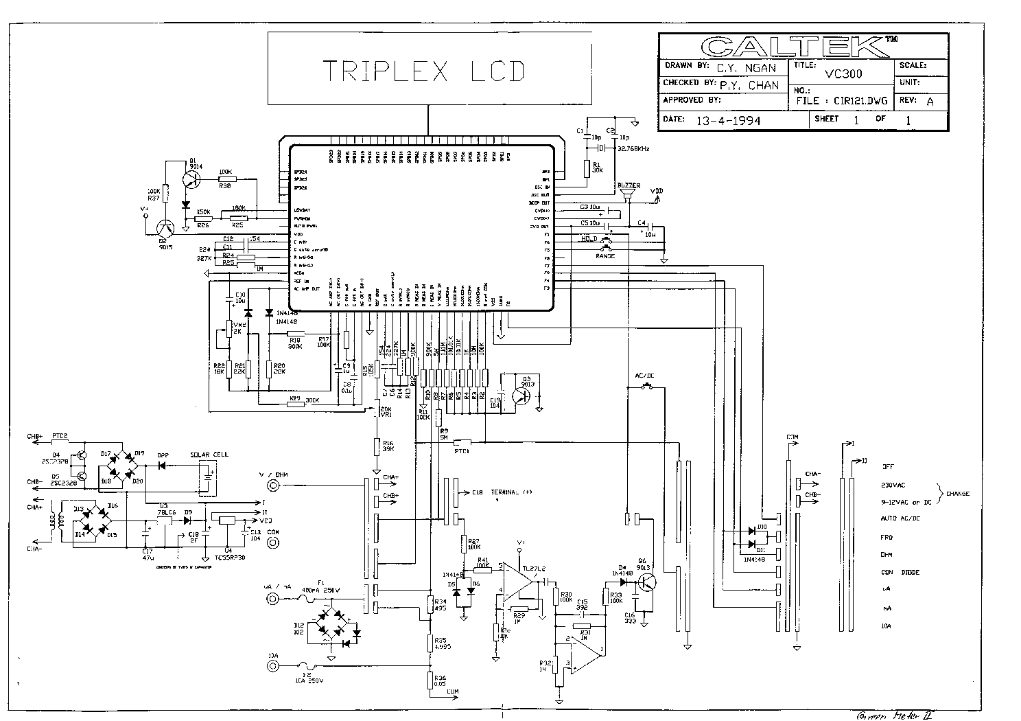 Schematic For Voltmeter Diy Enthusiasts Wiring Diagrams