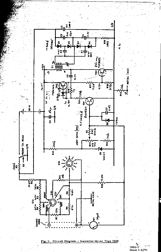 Comark 1905 Insulation Meter 1971 Sm Service Manual Download