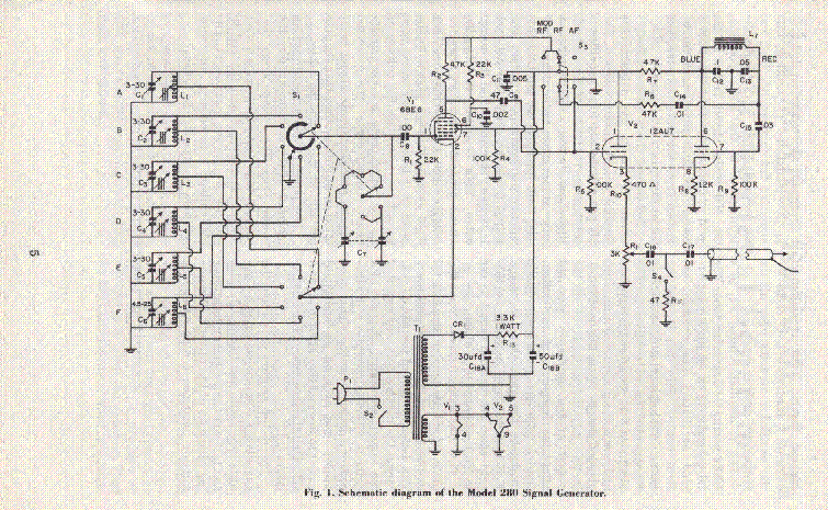 Knight Rf Generator Schematics : Conar rf signal generator sch service manual download