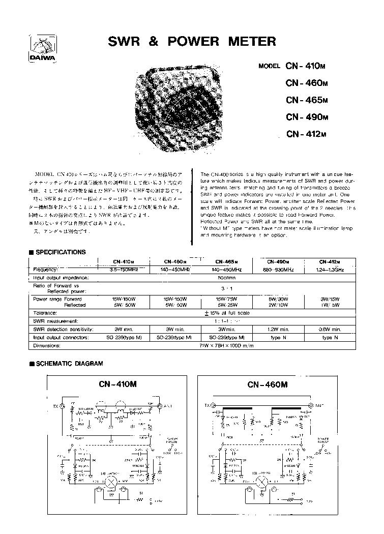Daiwa Swr Meter manual on