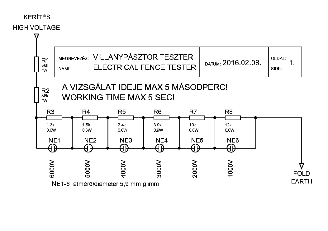 electric fence tester circuit diagram