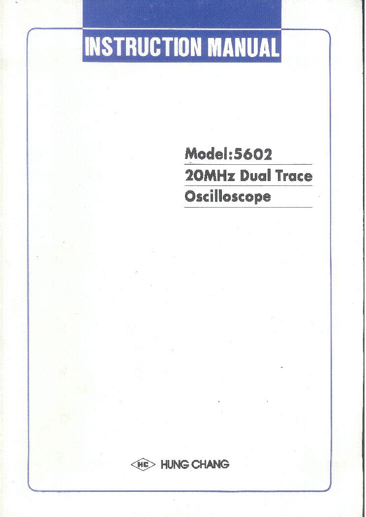 Hung Chang Oscilloscope Manual Free