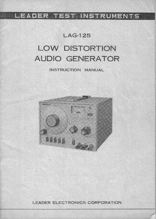 Audio generator lag-120a equipment leader electronics.