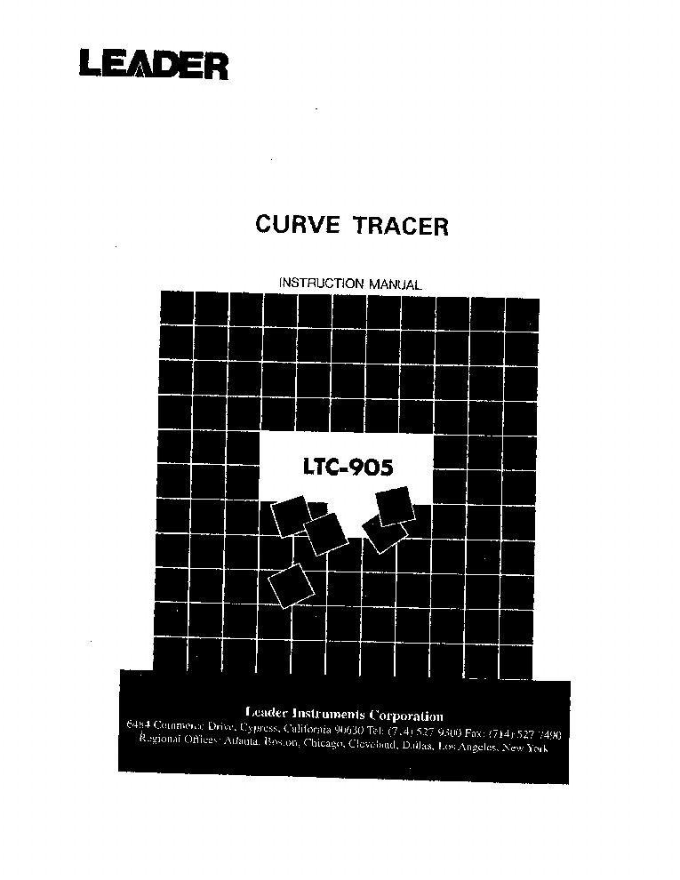 LEADER LTC-905 CURVE TRACER SM Service Manual download