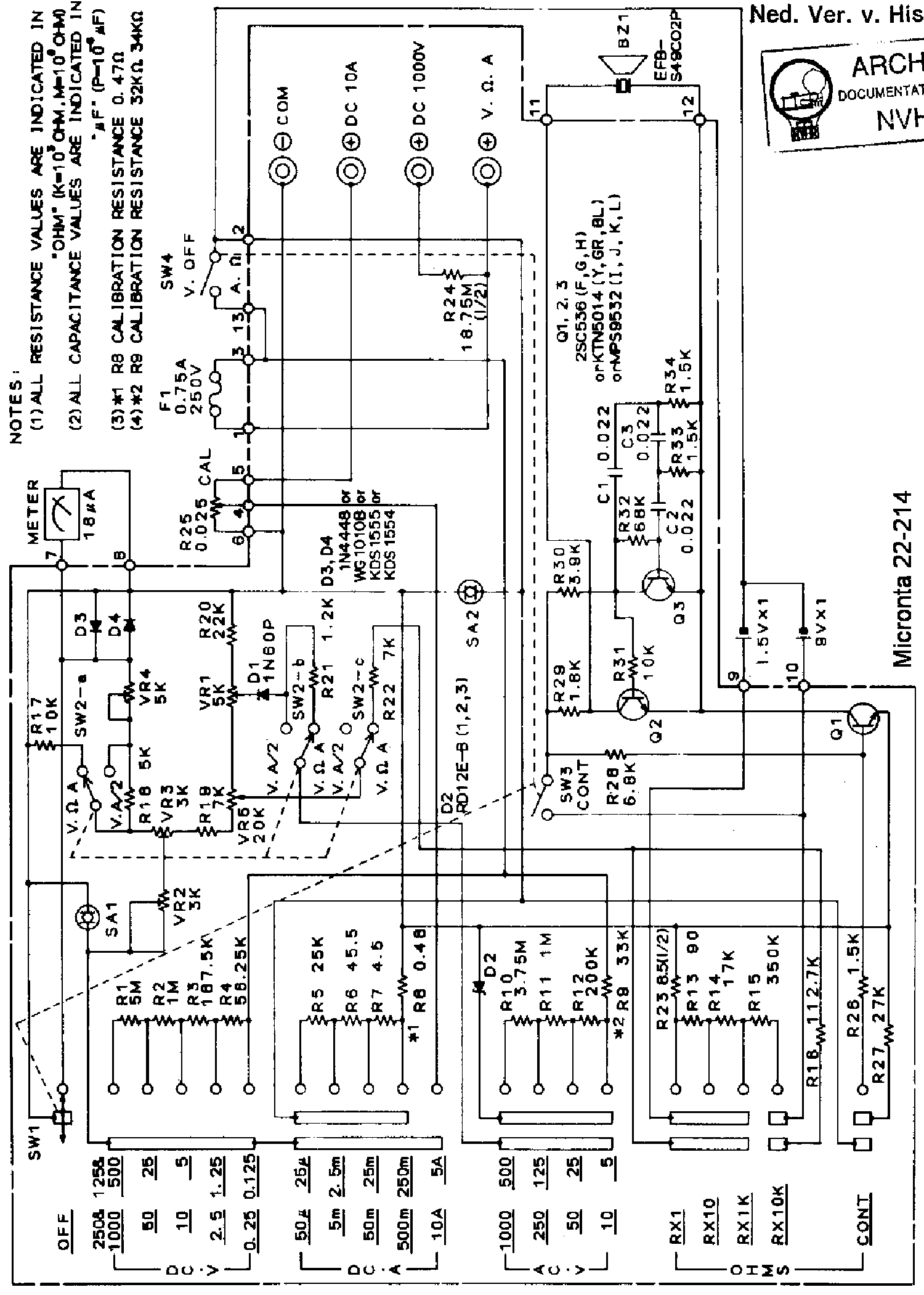 micronta_22 214_analog mm_w.buzzer_sch.pdf_1 micronta 22 214 analog mm w buzzer sch service manual download  at gsmx.co