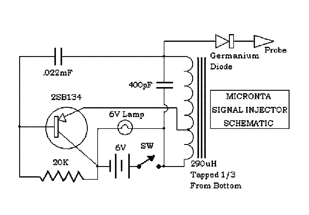 MICRONTA SIGNAL INJECTOR FOR-AF-IF-RF-CIRCUITS SM Service Manual