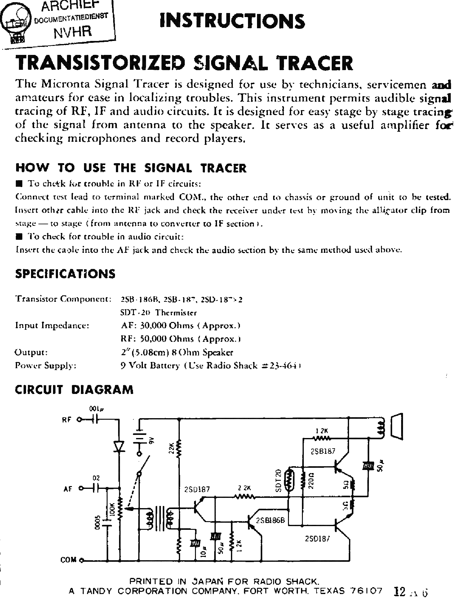 micronta_signaltracer_transistorized_rf if af_signal_tracer_sch.pdf_1 micronta 22 204 analog mm sch service manual download, schematics  at gsmx.co