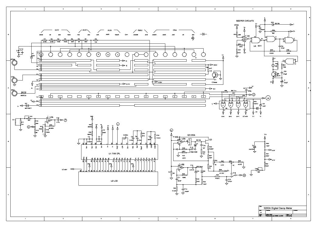 Minipa Et3200a Digital Clamp Meter Sch Service Manual Download