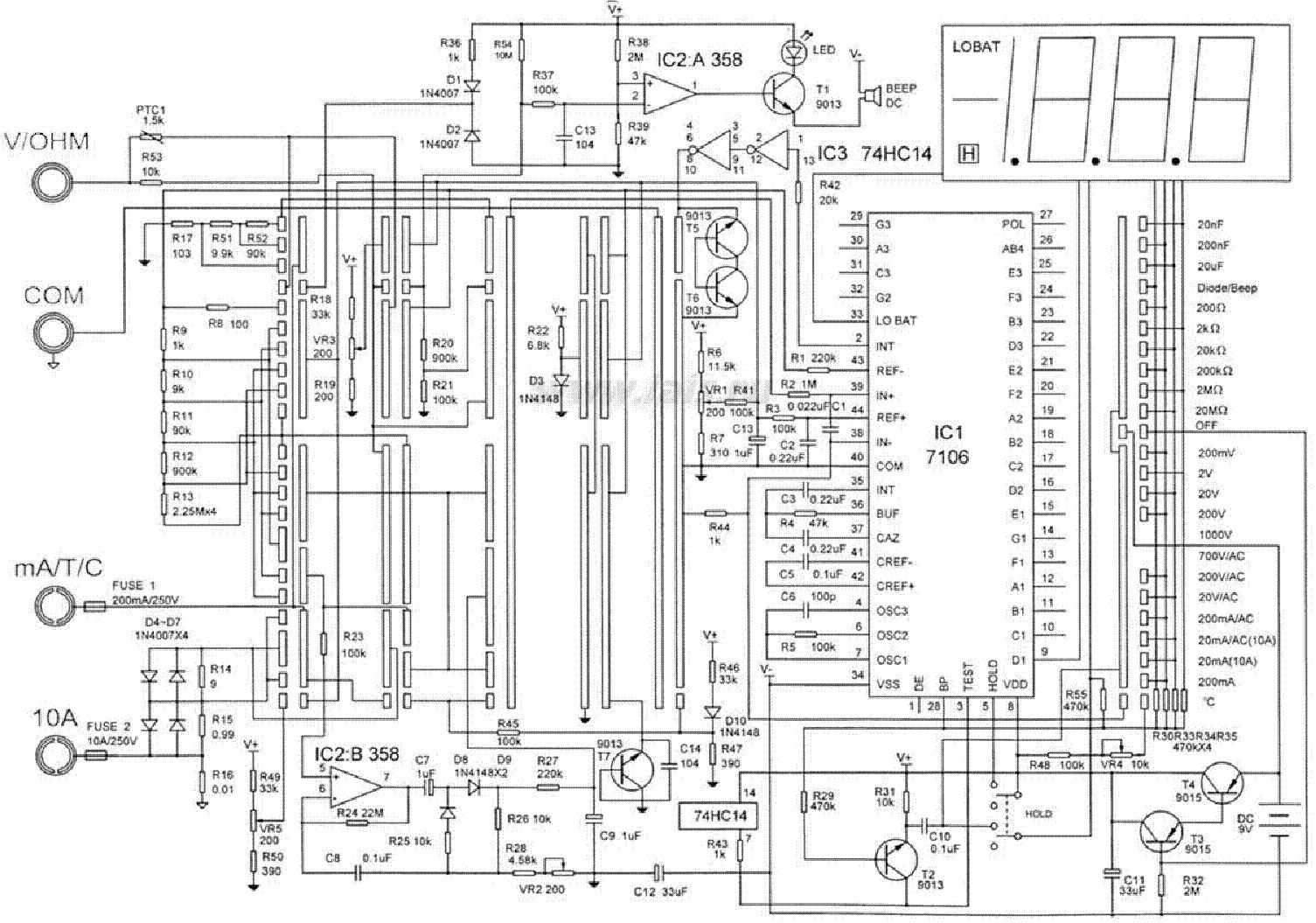 Multimeter Vc890c Plusz Sch Service Manual Download