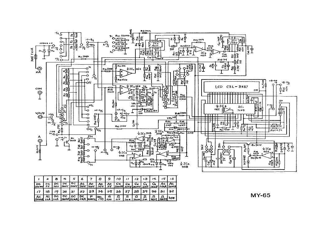 My 65 Digital Multimeter Sch Service Manual Download Schematics