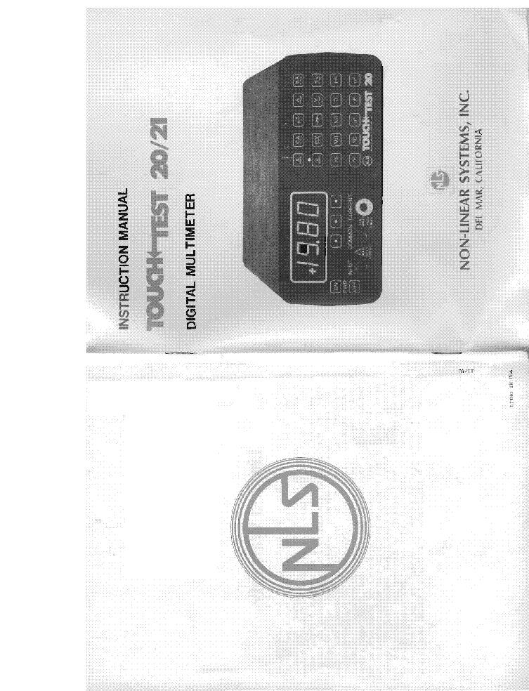 Non Linear Systems Model Ms 230 Oscilloscope Service