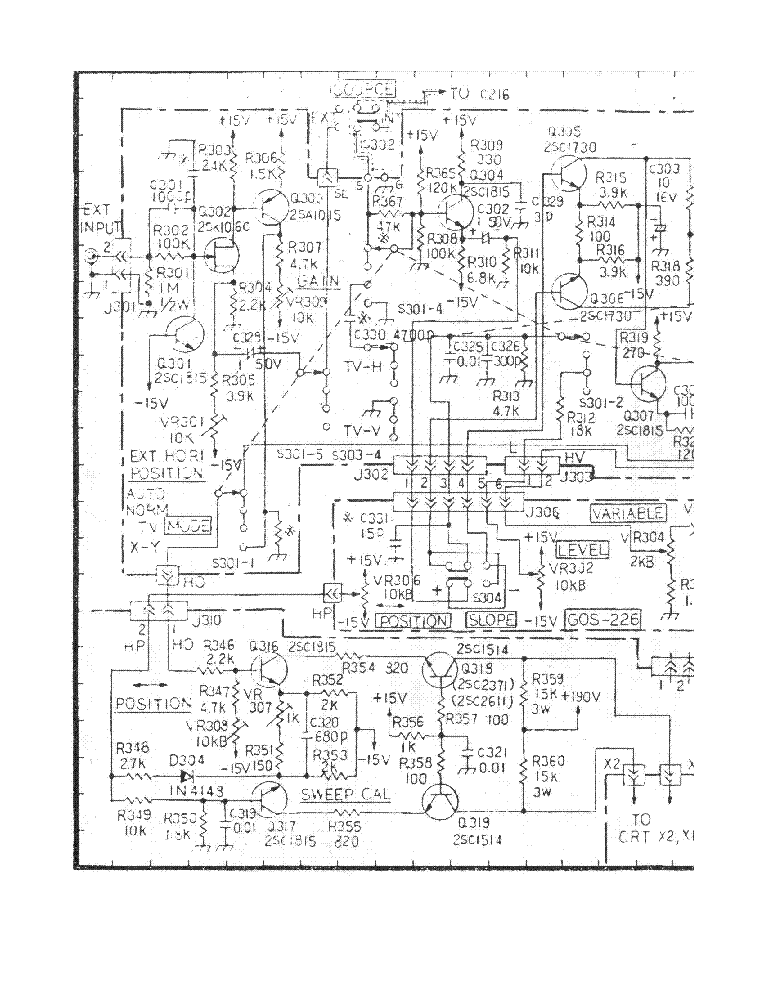 NRI 2500 OSCILLOSCOPE SCHEMATIC SCH Service Manual download