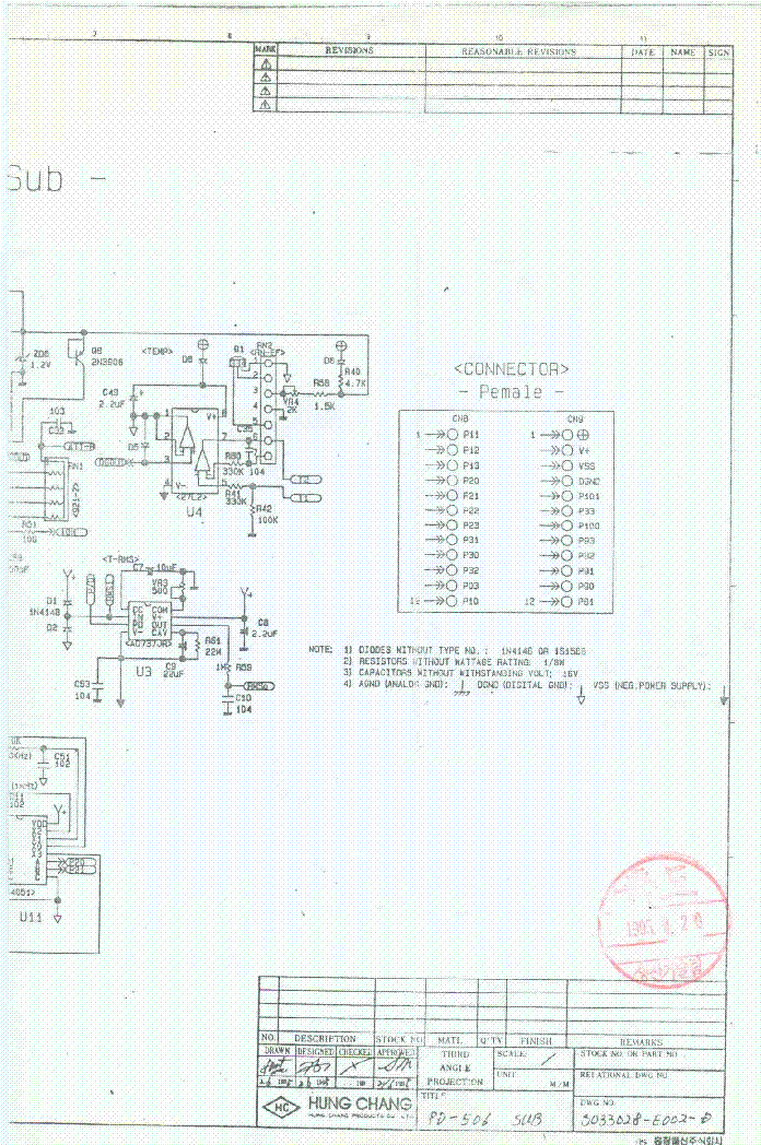 PROTEK HUNG CHANG 506 DMM SCH service manual (2nd page)