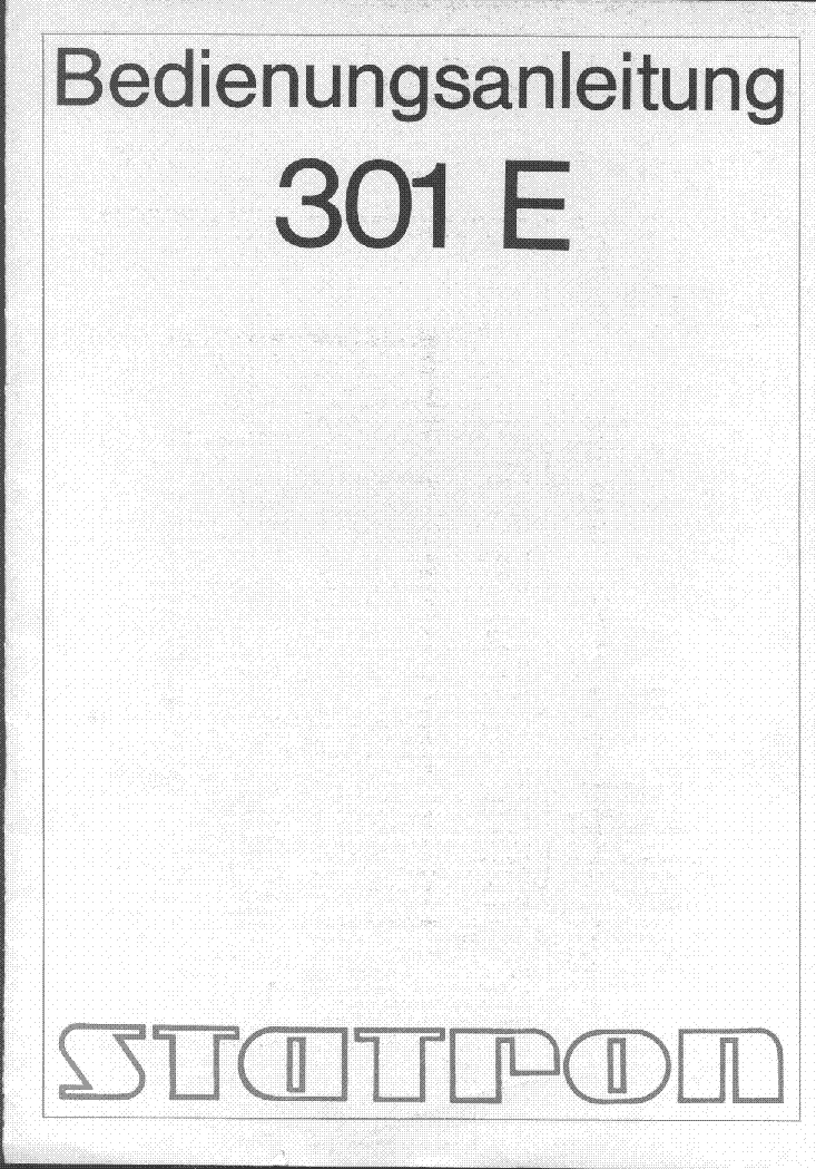 Statron B 3221 Service Manual Free Download Schematics