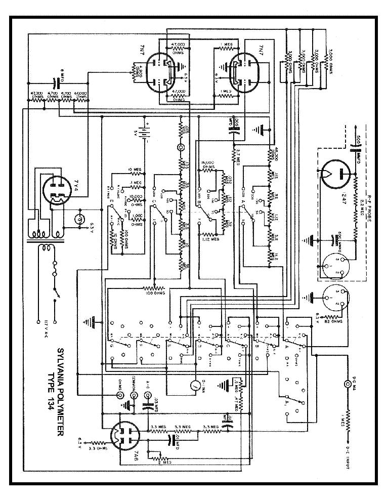 Sylvania 134 Polymeter Sch Service Manual Download Schematics. Sylvania 134 Polymeter Sch Service Manual 1st Page. Wiring. Sylvania Tube Radio Schematics At Scoala.co