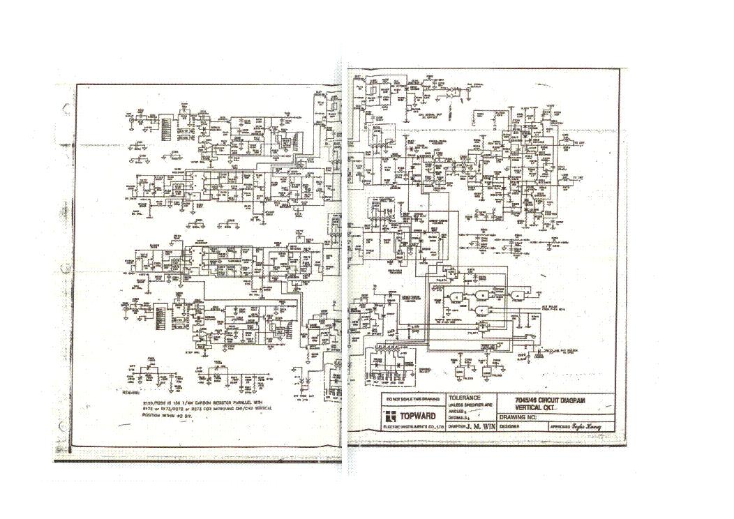 topward 7045 7046 oscilloscope trig