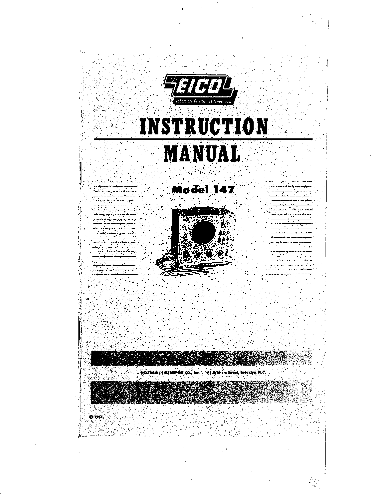 EICO 147 SIGNAL TRACER service manual