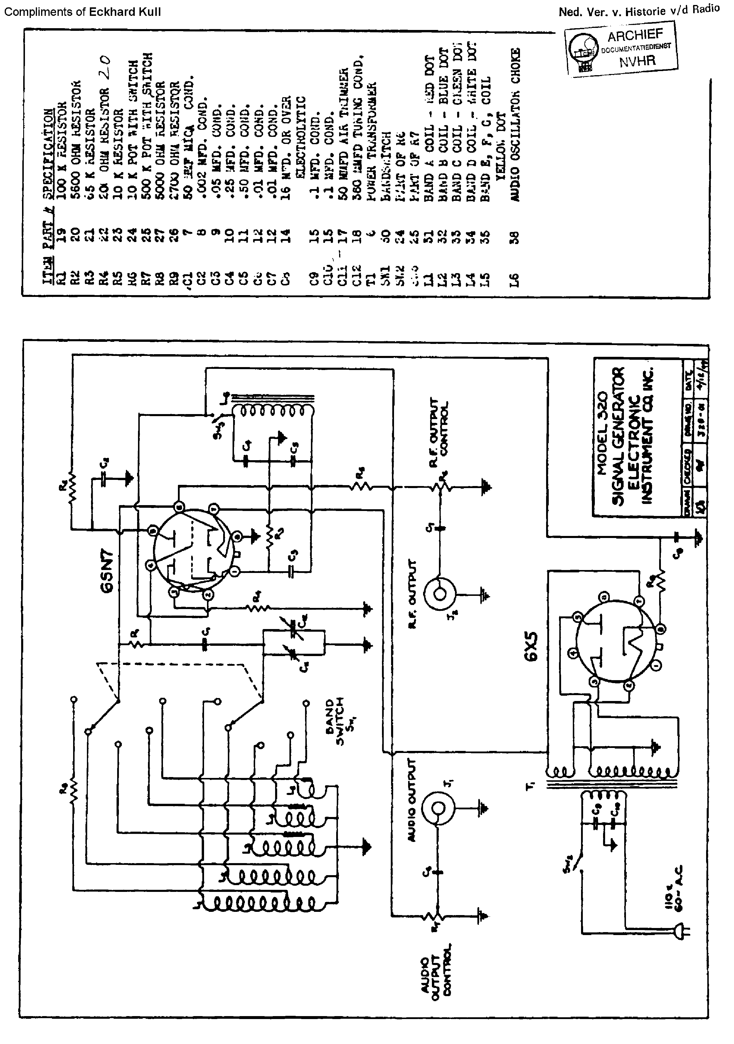 Anyone Have A Readable Schematic For An Eico 320 Signal