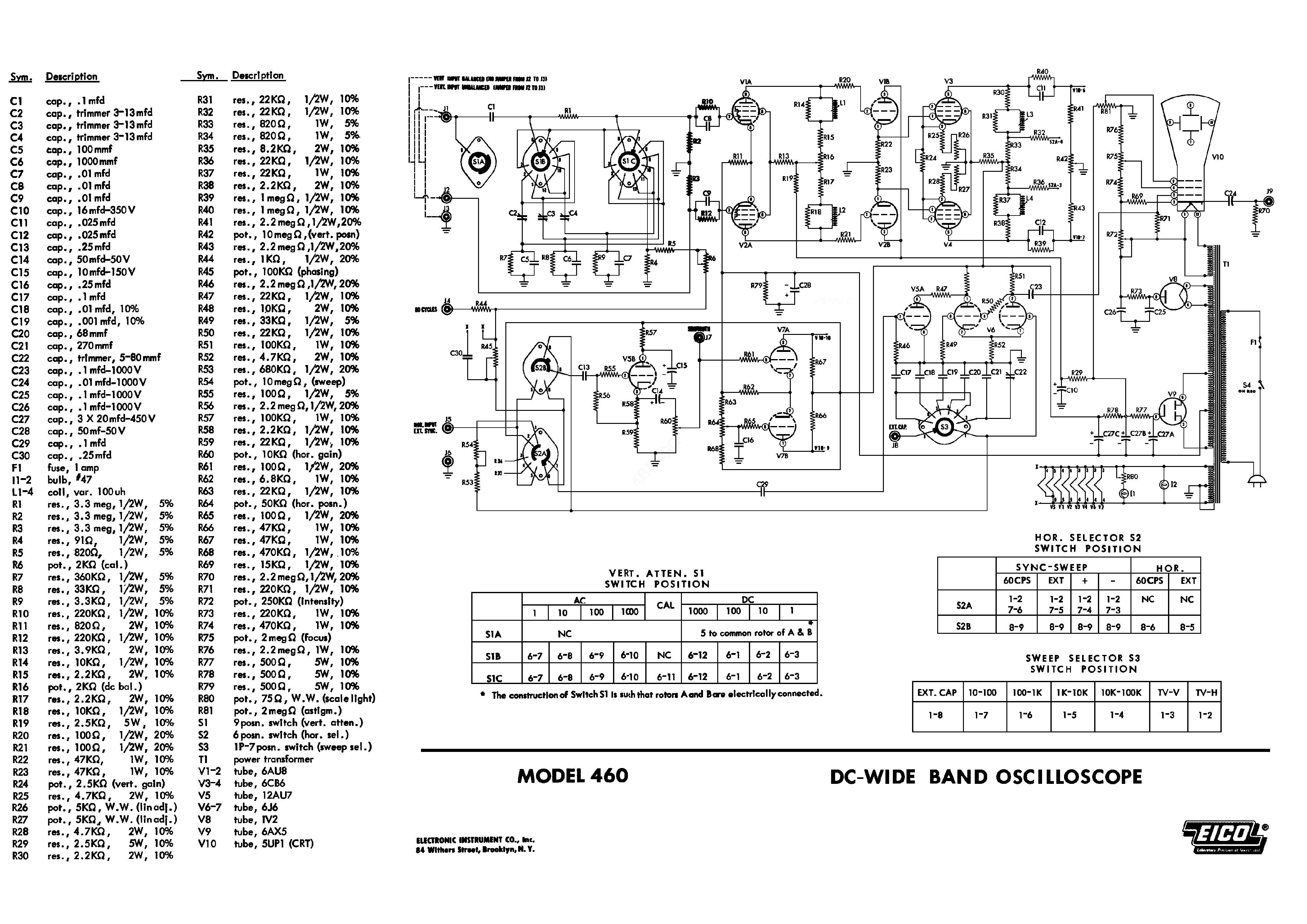 eico 460 parts sch service manual download schematics eeprom rh elektrotanya com PC-based Oscilloscope Kit Multimeter Schematic 77