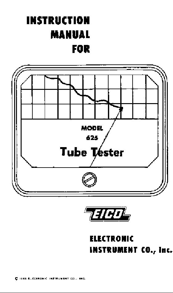 eico model 625 tube tester service manual download