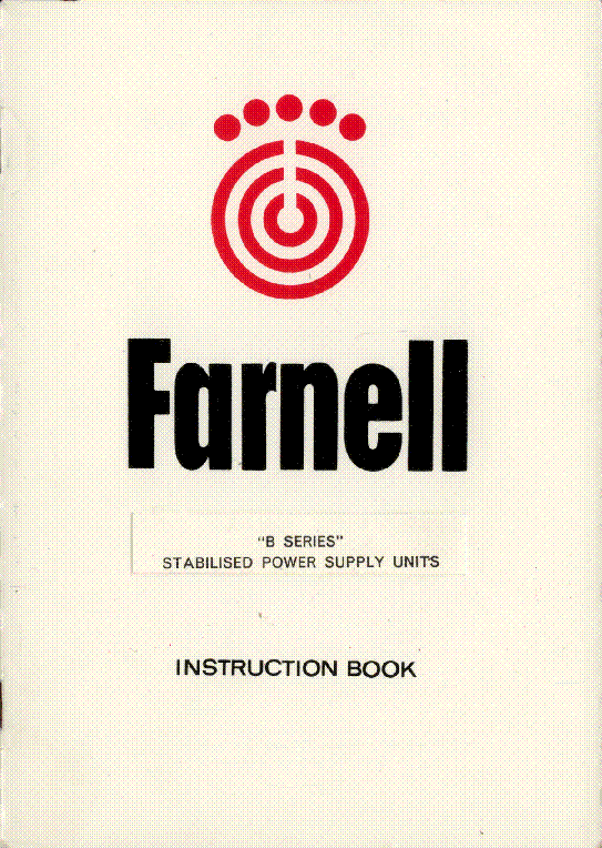 FARNELL B 30-2  30-20 0-30V,2   20A SERIES POWER SUPPLY 1970 SM