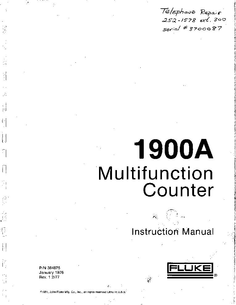 fluke 12b multimeter user manual